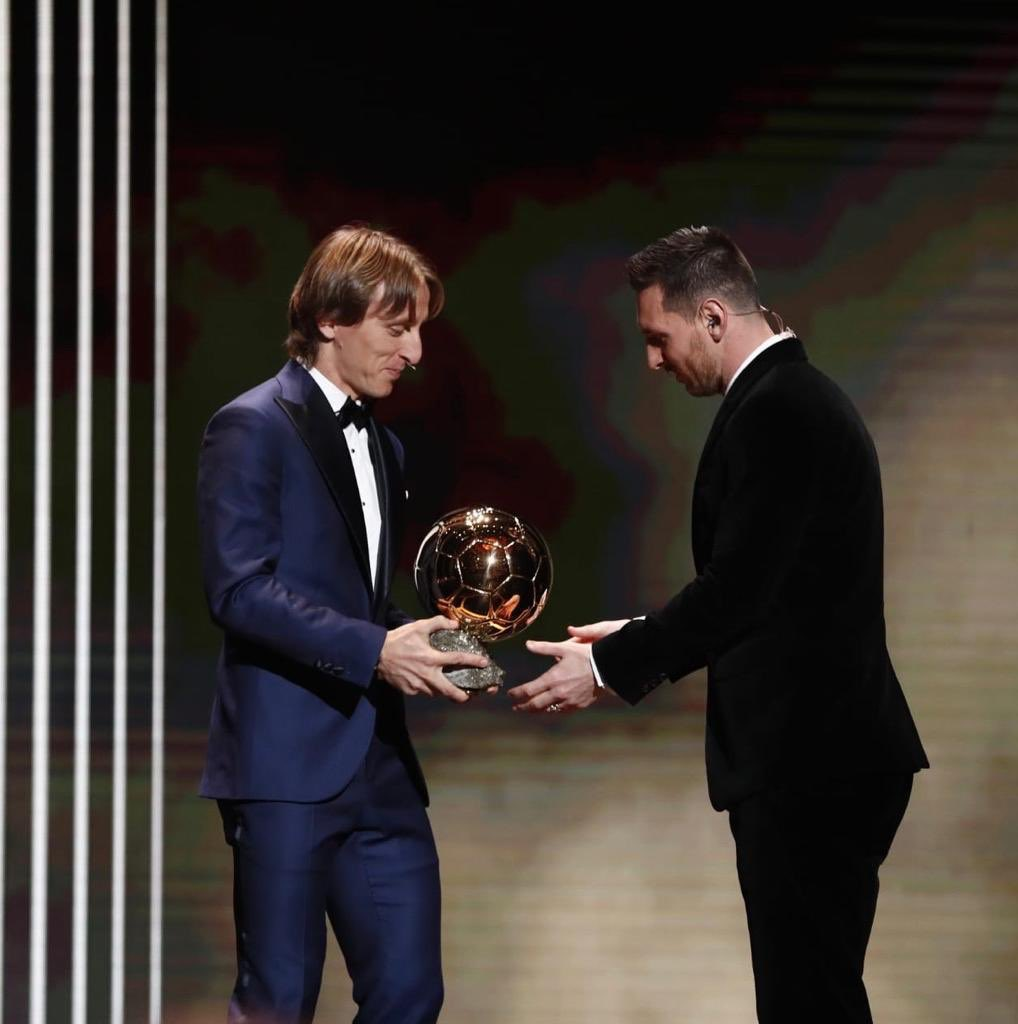 Sports and football are not just about winning, they're also about respect for your teammates and rivals.  #BallonDOr <br>http://pic.twitter.com/0AvmMdrya1