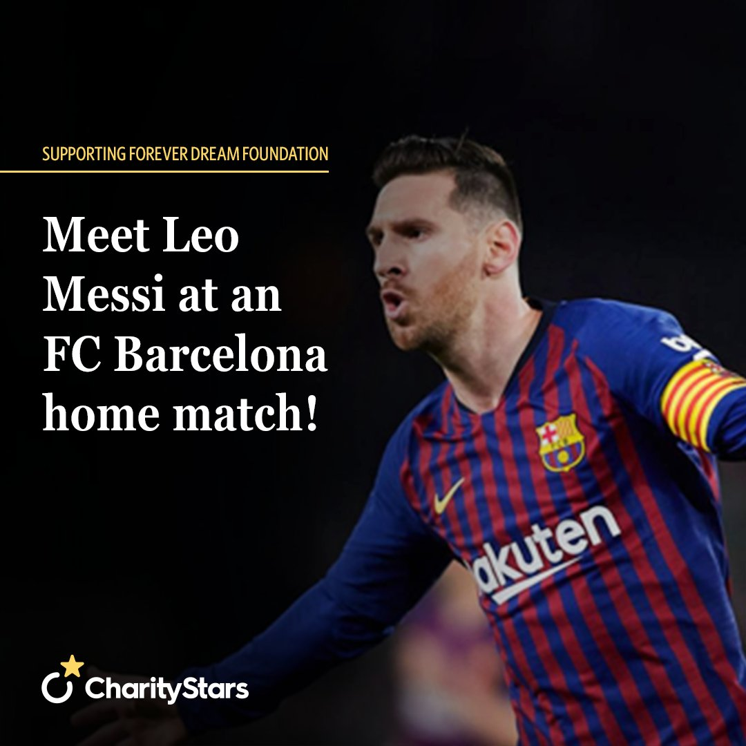 Live a dream and support Forever Dream Foundation!  This is your truly unique opportunity to meet Leo Messi, arguably one of the best soccer players of all time, and watch him live in action on the pitch!   Bidding is now open: