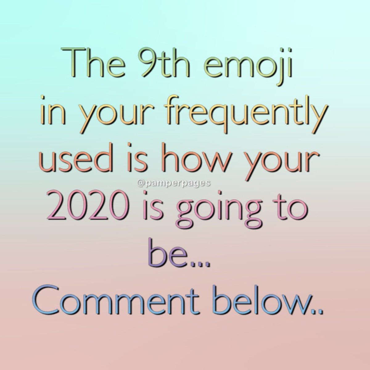 The 9th emoji in your frequently used is how your 2020 is going to be... This is ours ..... What's yours.... Comment below  #bitoffun #lol #laugh #laughing  #smile #haha #emoji #commentbelow #comment #comment4comment #joke #lmao #love #funnyquote<br>http://pic.twitter.com/nJb4zL9xRc