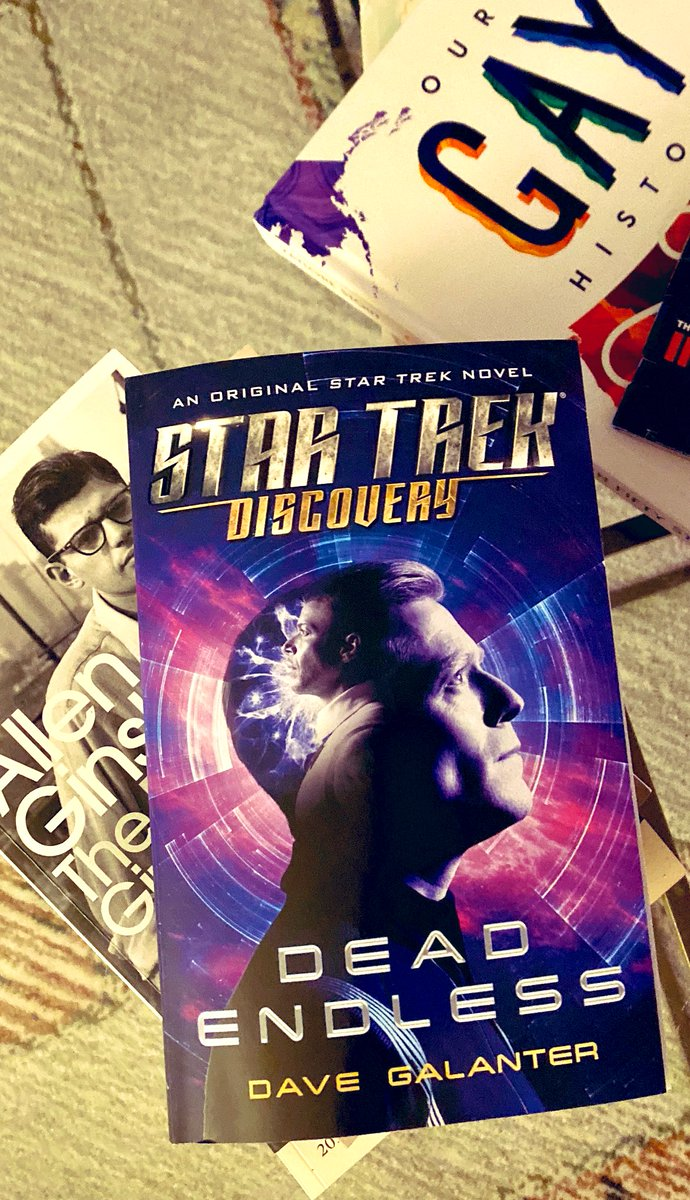 OMG, you guys!! Look what was waiting in my mailbox when I got home today!! Thank you SO MUCH, for this @DaveGalanter! I'm so HONORED and EXCITED to crack it open!! @albinokid, can you EVEN??🤪 #startrekdiscovery #culmets #spaceboos #StarTrek #stamets #culber #DeadEndless
