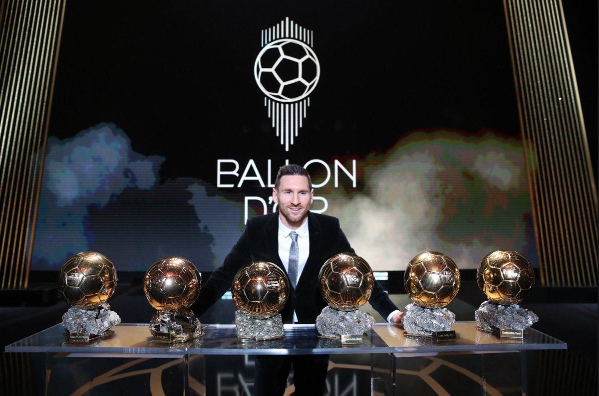 6  #BallonDor  6  #GoldenBoot 6 trophies (sextuplet) in one year  Can we officially call  #Messi  the  #6god ?    #BallonDor2019  #BalonDor  #BalonDeOro2019  #GOAT  #GOATisCuler