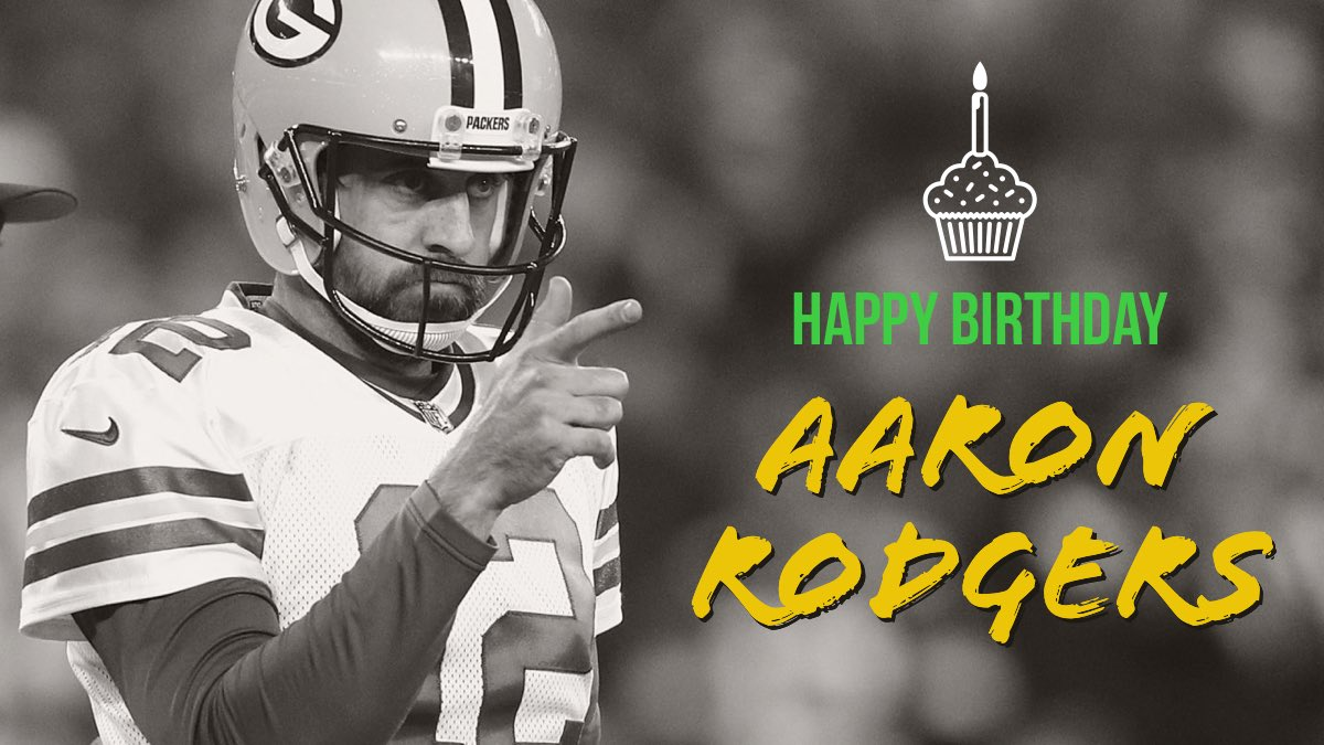 Happy 36th Birthday to Northern California s own Aaron Rodgers! One of the best QBs in the NFL today!