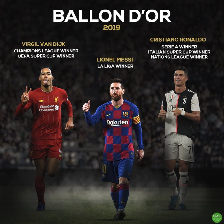 Modric won it last year with no reason, but Ronaldo and VVD DON'T. Shame ,BallonDor lost the credibility.  #BallonDor2019<br>http://pic.twitter.com/edNvygkBTT