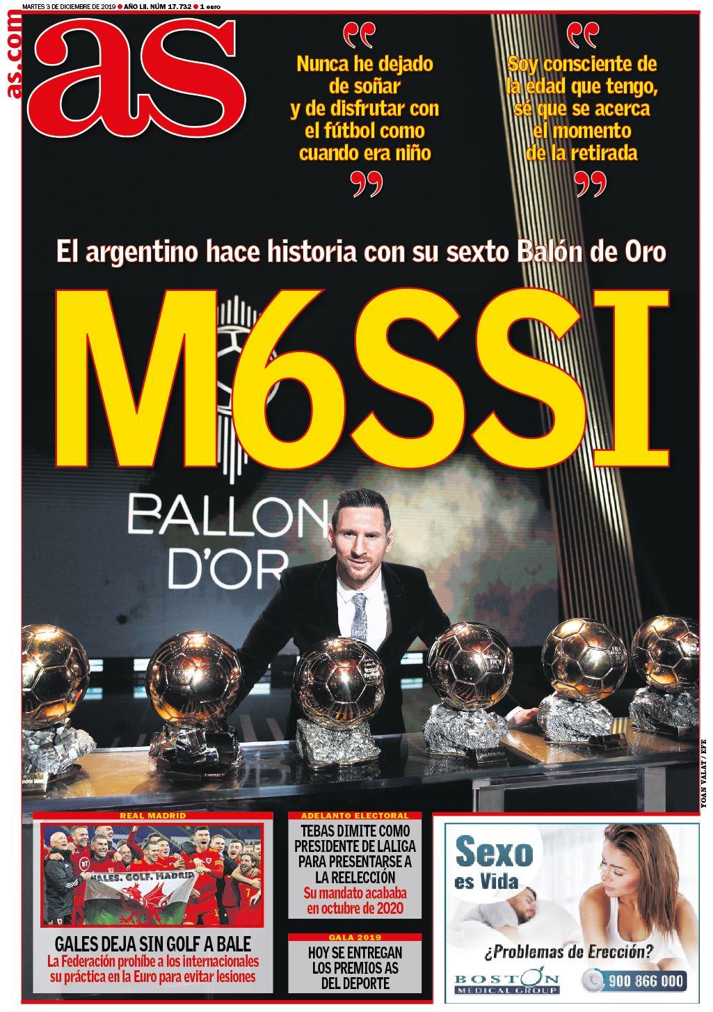 """""""У футбола есть только один Бог"""". Мировые СМИ - о шестом Золотом мяче Месси - изображение 3"""