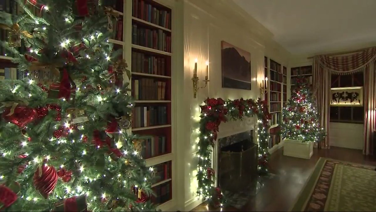 A look at the White House Christmas decorations.