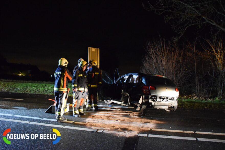 Flinke schade na aanrijding tegen boom Provincialeweg - N207 Boskoop -..