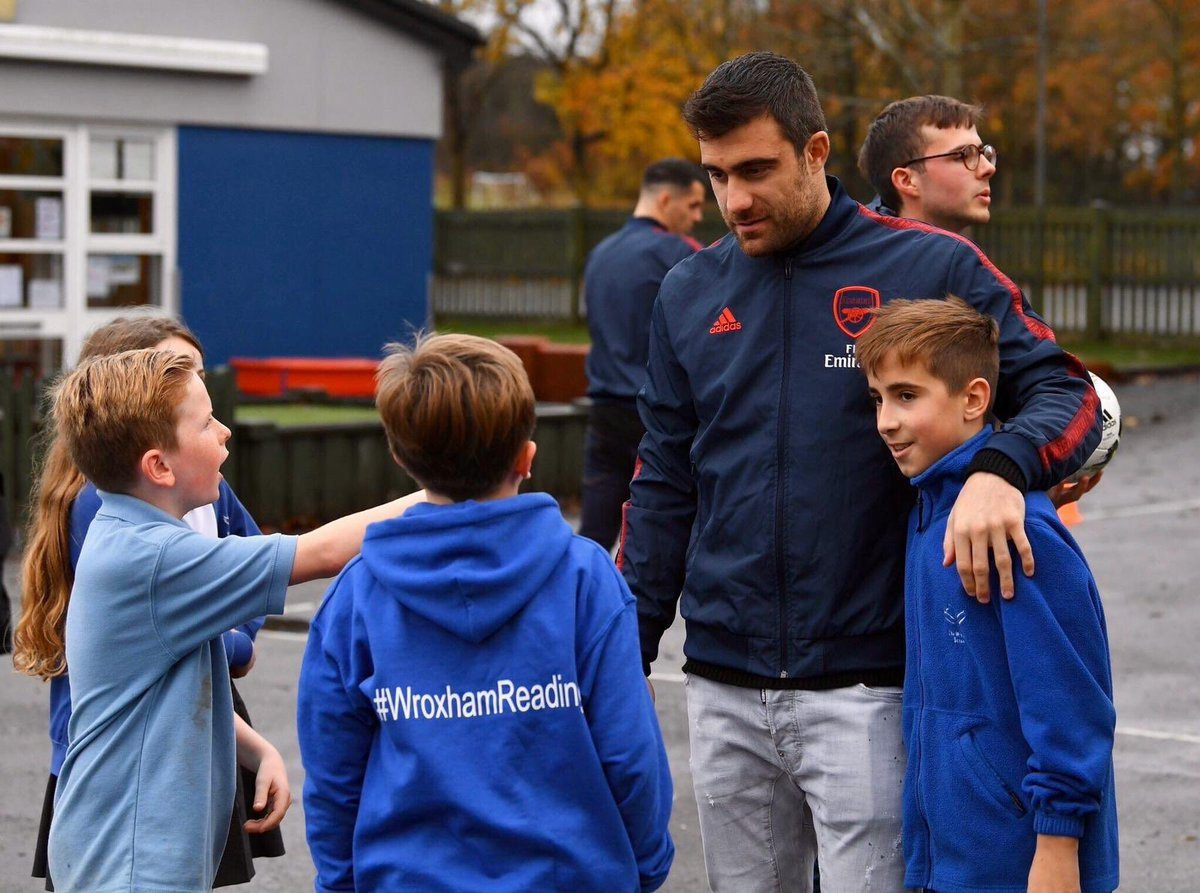 Always happy to spend time with the next generation. Great work from @AFC_Foundation again 🙏🏼 #S5