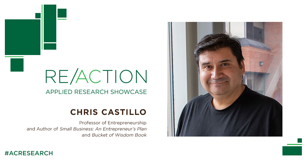 Speaker Spotlight - We are excited to have Chris Castillo  speaking at RE/ACTION Showcase tomorrow. He is a Professor of Entrepreneurship at @AlgonquinColleg and his new book, Bucket of Wisdom was just released.   Get your FREE ticket now! https://t.co/8Vna4I4Vvv https://t.co/SsXN9dCjt8