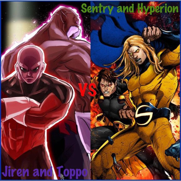 Who Would Win On Twitter Jiren Toppo Vs Sentry Hyperion Dragonball Vs Marvel Which Tag Team Wins Fighter Comics Anime Superman Dccomics Marvel Marvelcomics Dc Whowouldwin Strong Warrior Shpoll19 Battle
