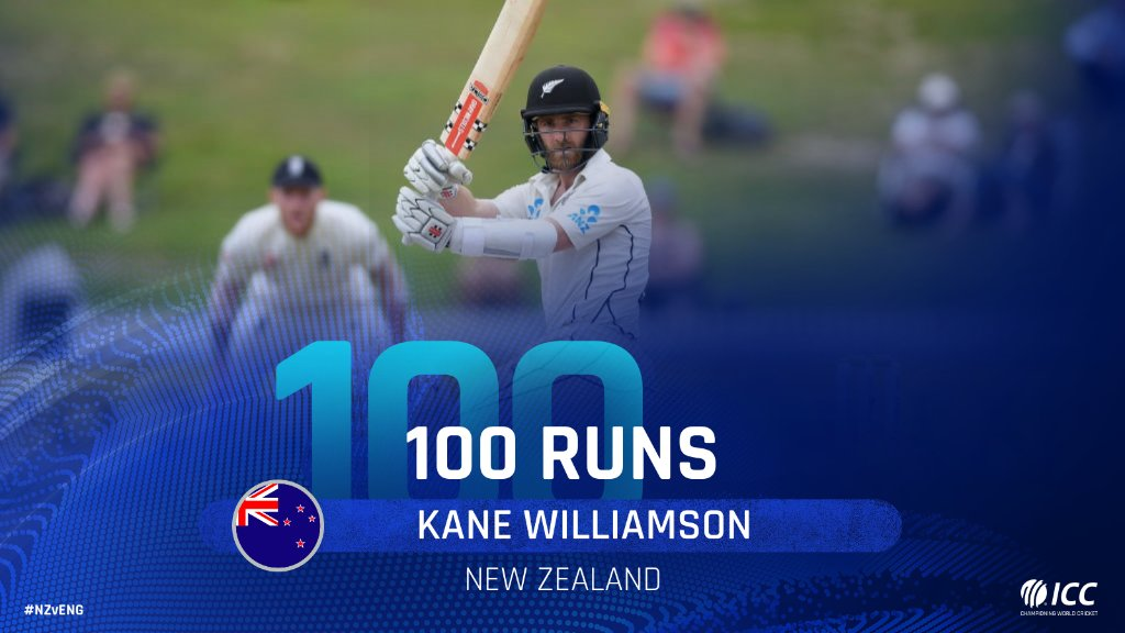 Hundred for Kane Williamson! The New Zealand skipper brings up his 21st Test century in style with a four on day five of the Hamilton Test. #NZvENG LIVE 👇http://bit.ly/NZvsEng7