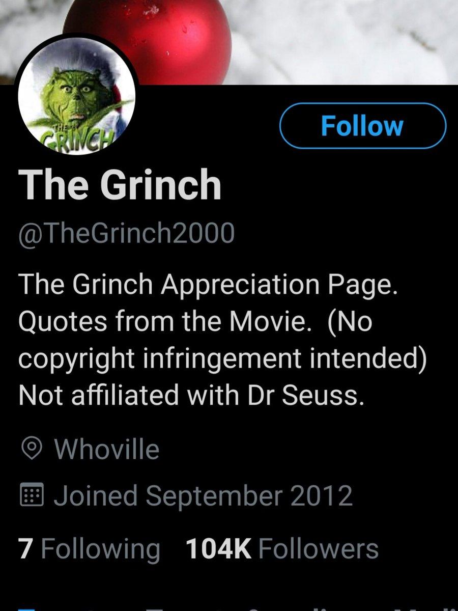 Replying to @sportsfan926: He has a shit ton of followers #ReasonsTheGrinchIsAwesome