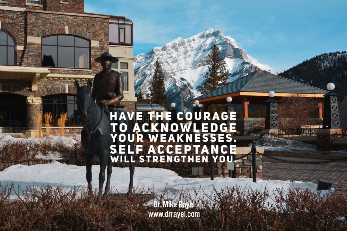 Have the courage to acknowledge your weaknesses. Self acceptance will strengthen you. #inspirationalquote #wisdomquote #wisdomwords #foodforthought #motivationalmd