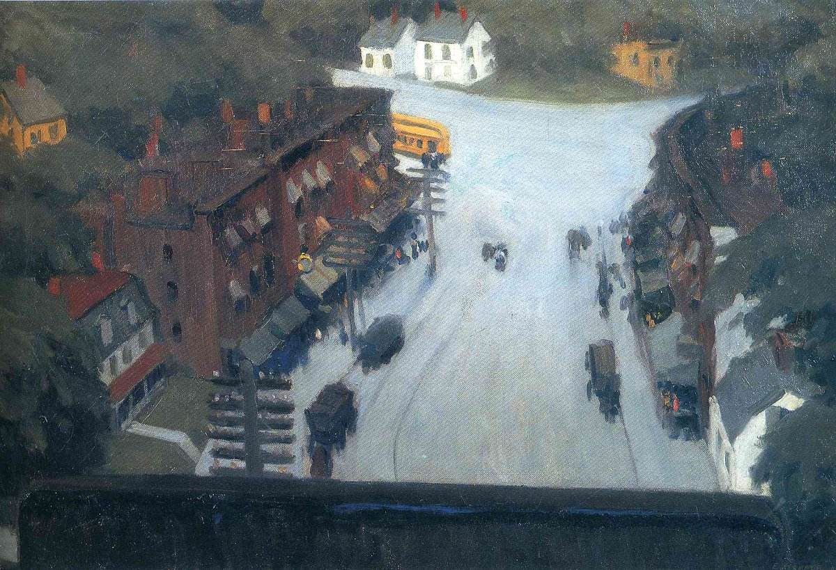 American Village, 1912 #edwardhopper #newrealism <br>http://pic.twitter.com/4lfyK7I6Hq
