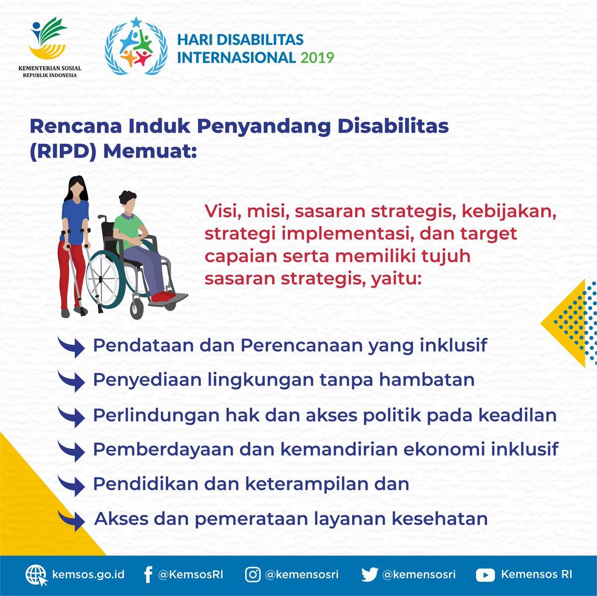 RIPD ini nantinya akan menjadi acuan dalam penyusunan Rencana Aksi Nasional Penyandang Disabilitas (RAN PD) dan Rencana Aksi Daerah Penyandang Disabilitas (RAD PD) Provinsi, sehingga cita-cita Indonesia Inklusi Disabilitas Unggul dapat terwujud