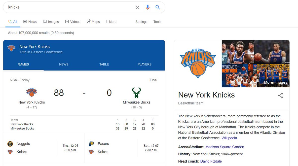 @NBA @sixers @Suns @ATLHawks @Pacers @Bucks Google employs a lot of Knicks fans. https://t.co/5i8429bbgK