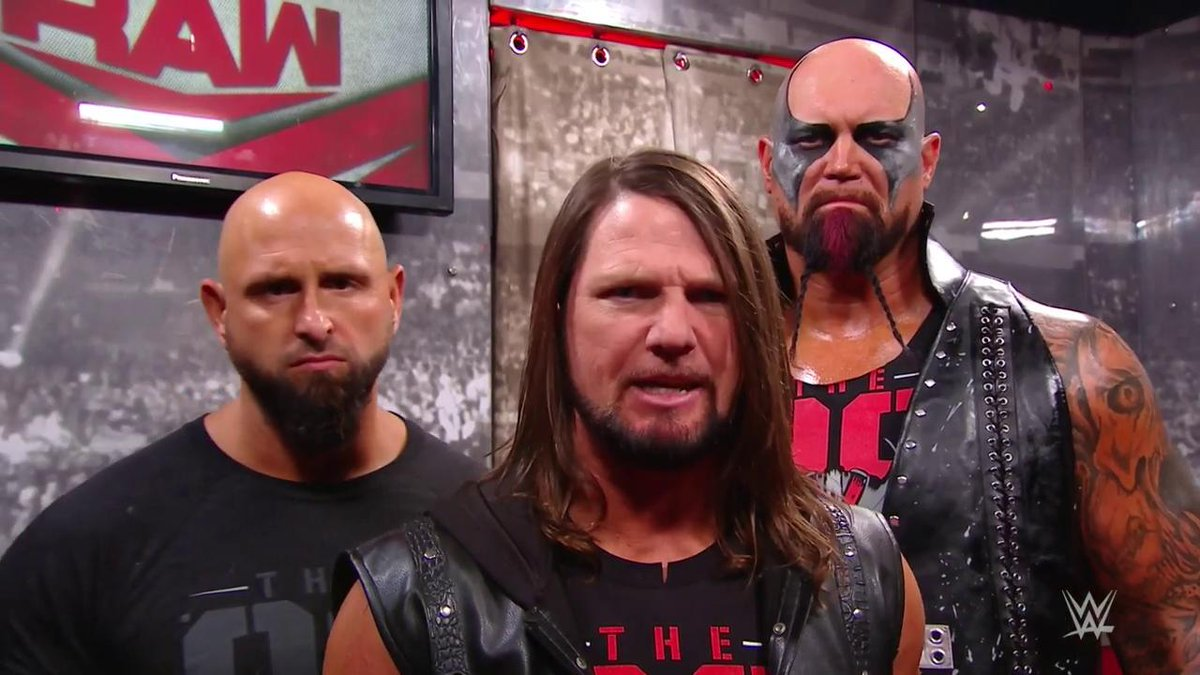 The official.The original.The ONLY CLUB THAT MATTERS.#RAW @AJStylesOrg @LukeGallowsWWE @KarlAndersonWWE