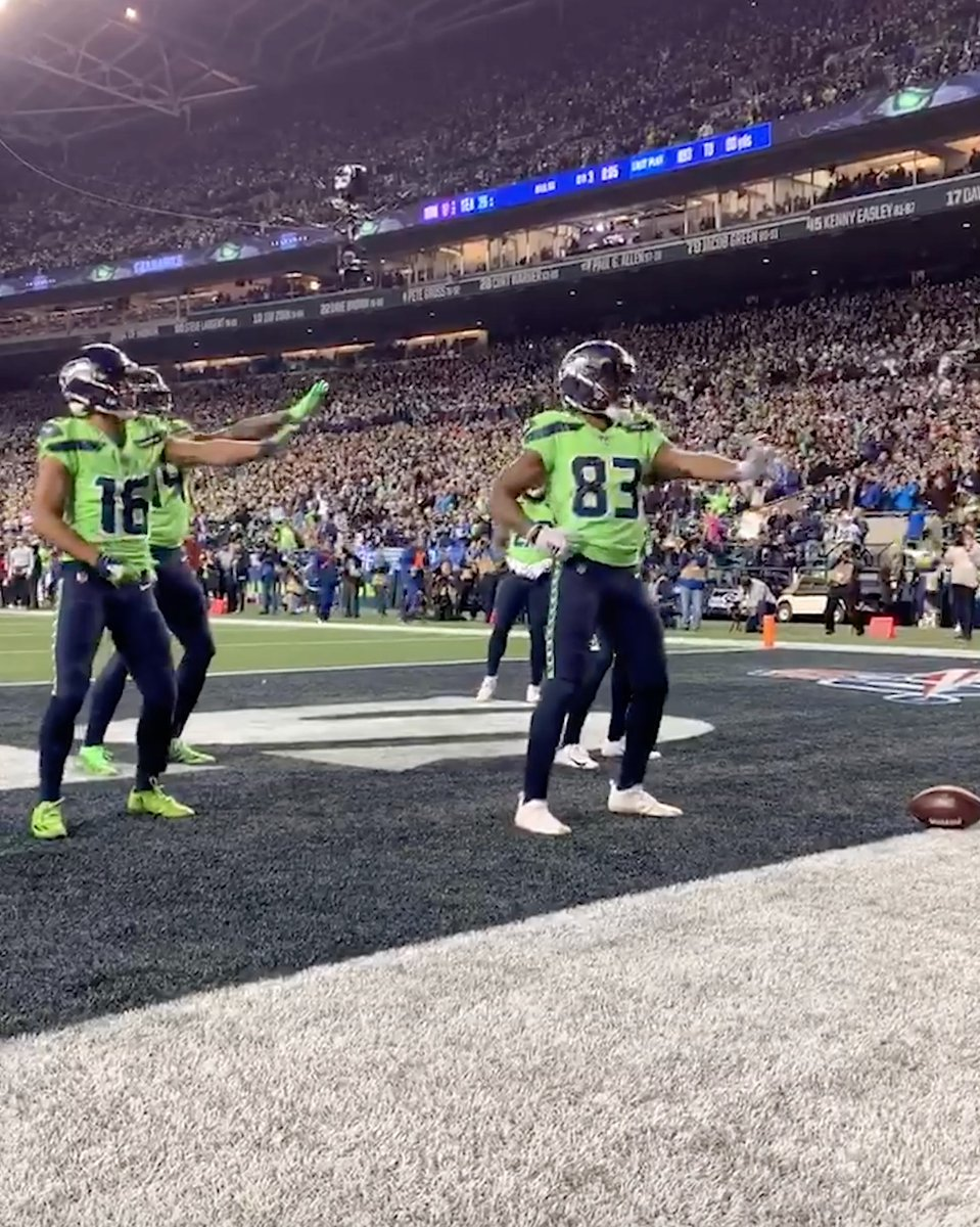 Replying to @espn: The Seahawks WRs' celebrations are undefeated 😂