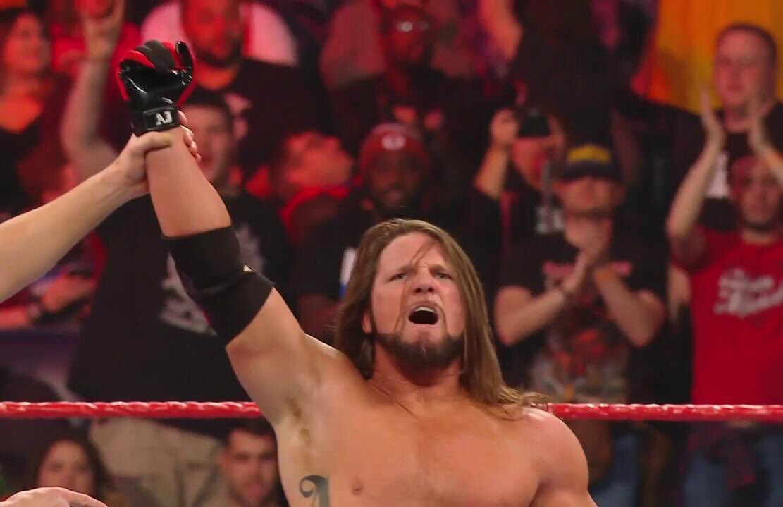 With a vicious #StylesClash, @AJStylesOrg scores the WIN for #TheOC on #RAW!