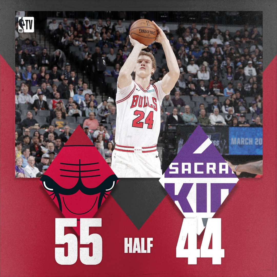 A strong effort in the second quarter puts the Bulls up at the half!