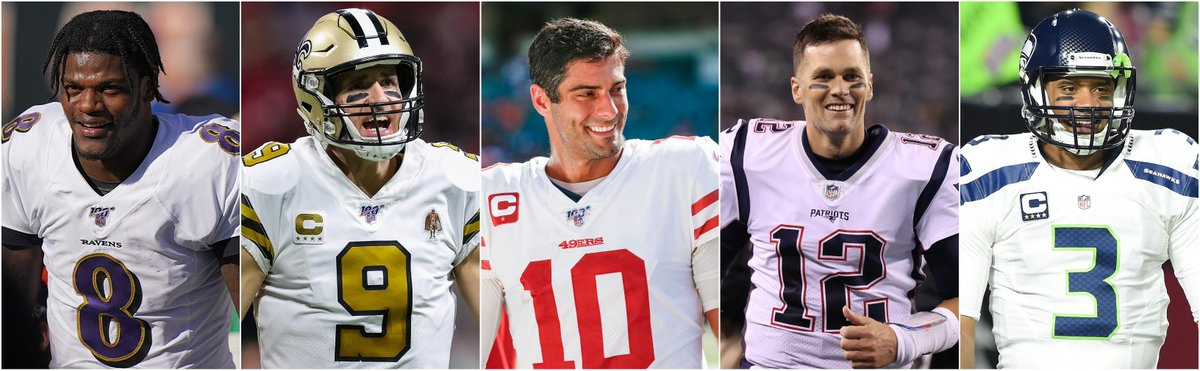 This is just the 4th time in the Super Bowl era there are 5 teams with at least 10 wins through 12 games ... ✅ Ravens ✅ Saints ✅ 49ers ✅ Patriots ✅ Seahawks