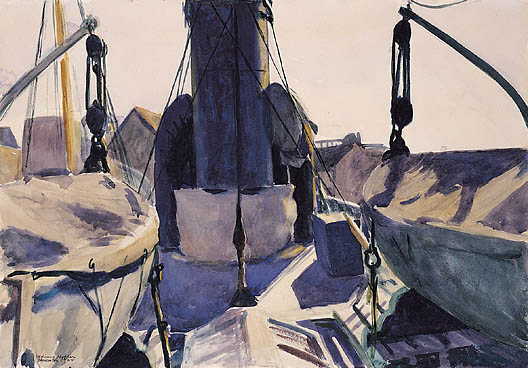 Funell of Trawler, 1924 #newrealism #hopper<br>http://pic.twitter.com/dP9UvPm2Ii