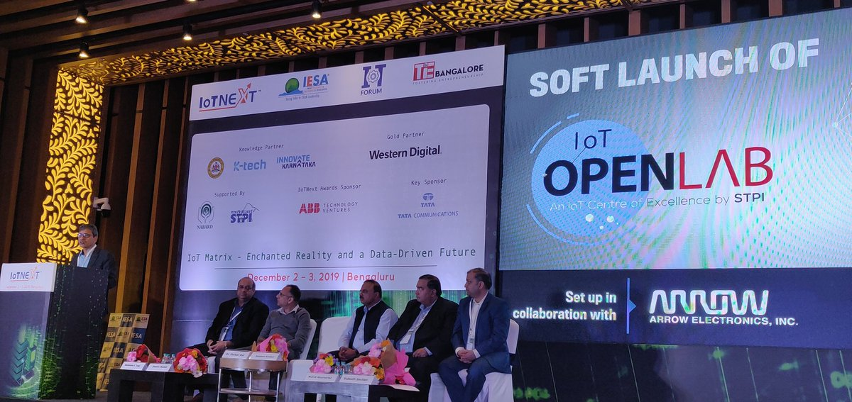 @stpiindia launches IoT OPENLAB at #IoTNext 2019 #RaiseIoTQuotient #STPIIoTOpenLab <br>http://pic.twitter.com/yQRZRkOeEm