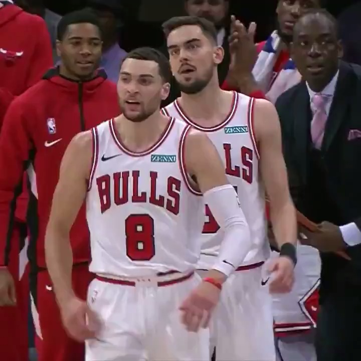 Zach LaVine (28 PTS & 5 3PM) was FEELING it during Chicago's win! 👌  #BullsNation