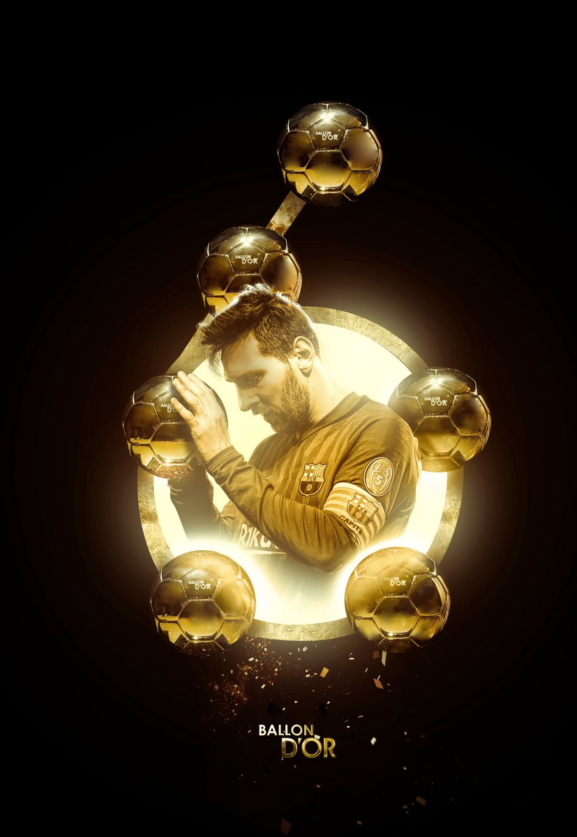 6 of the best, for the best.  Congratulations to  #Messi  on winning his unprecedented 6th Ballon d'Or.