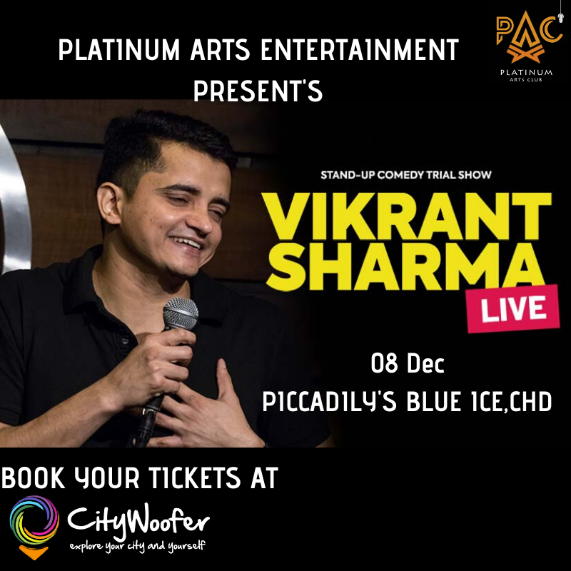Laughter is on the way! PAC presents a hilarious Comedy Show by Vikrant Sharma with his funny acts on 08 Dec at Blue Ice Club.  𝗕𝗼𝗼𝗸 𝗬𝗼𝘂𝗿 𝗧𝗶𝗰𝗸𝗲𝘁𝘀 -  #StandupComedy #VikrantSharma #LOL #Laughter #Punjabi #Chandigarh
