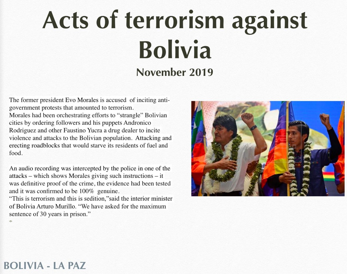 Indigenous people of #Bolivia turned AGAINST #EvoMorales b/c of the crimes he committed against them #EvoDictador #EvoAsesino #EvoTerrorista #pitita #pititatwittera #evoesfraude #evoisfraud #SocialismDestroys #SocialismKills #BoliviaDijoNo #boliviasaidno #bolivia #BoliviaLibre<br>http://pic.twitter.com/mU5aHqemvi