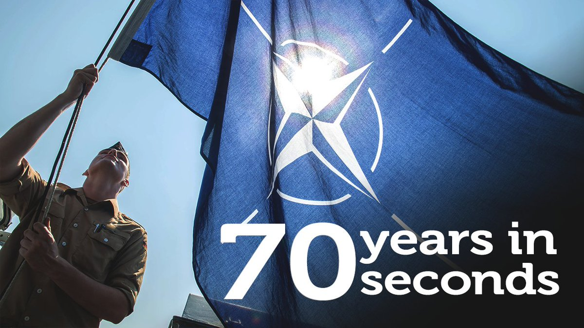 🎥 #NATO: 7⃣0⃣  years in 7⃣0⃣ seconds   Our world is changing and NATO is changing with it. But our commitment to one another endures, giving us the strength to overcome our differences and rise to any challenge #WeAreNATO