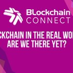 Image for the Tweet beginning: Blockchain in the real world;