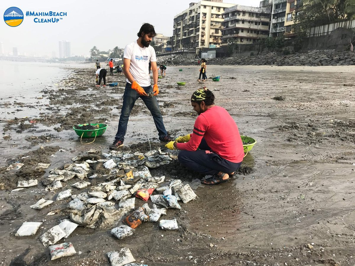 """""""A nation that destroys its soils destroys itself. Forests are the lungs of our land, purifying the air and giving fresh strength to our people."""" #MahimBeachCleanUp #SwachhBharat #SwachhMumbai #MyCleanIndia #SwachhataHiSeva #IVD2019 #plasticpollution @MySwachhMumbai @PMOIndia"""