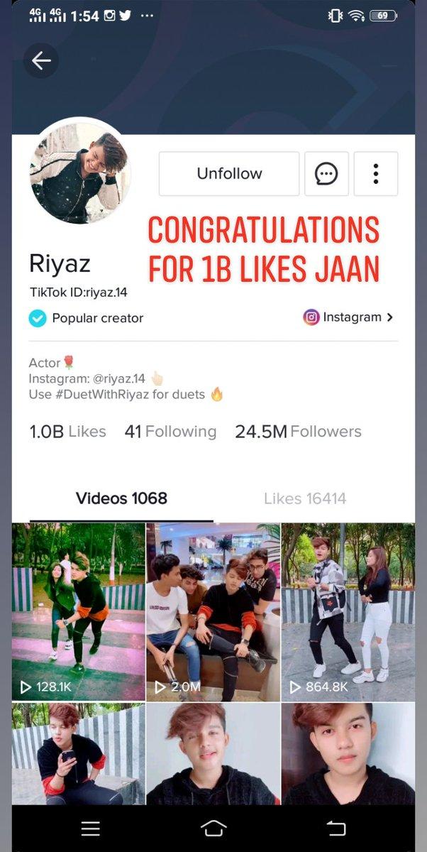 Congratulations Rii for 1Billion likes @Riyazaly14 #Riyaz #meriShahJahan #1billion #Congratulations #riyazians #riyazheart #SajuRiyaz #Sajupic.twitter.com/kKDCl5aMPU