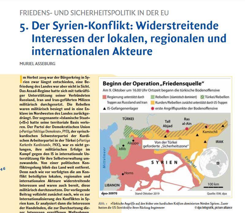"""Was sind die Interessen der Akture im Syrienkonflikt? Ein Beitrag von M. Asseburg in """"Deutschland & Europa"""" der @lpbbw.    Hierzu empfehlen wir das Dossier """"Konfliktkonstellationen in (Nord-)#Syrien"""" mit Beiträgen zum Thema von SWP-Autor/innen: https://t.co/Ls9Si8eKnt https://t.co/sB8esDAo50"""
