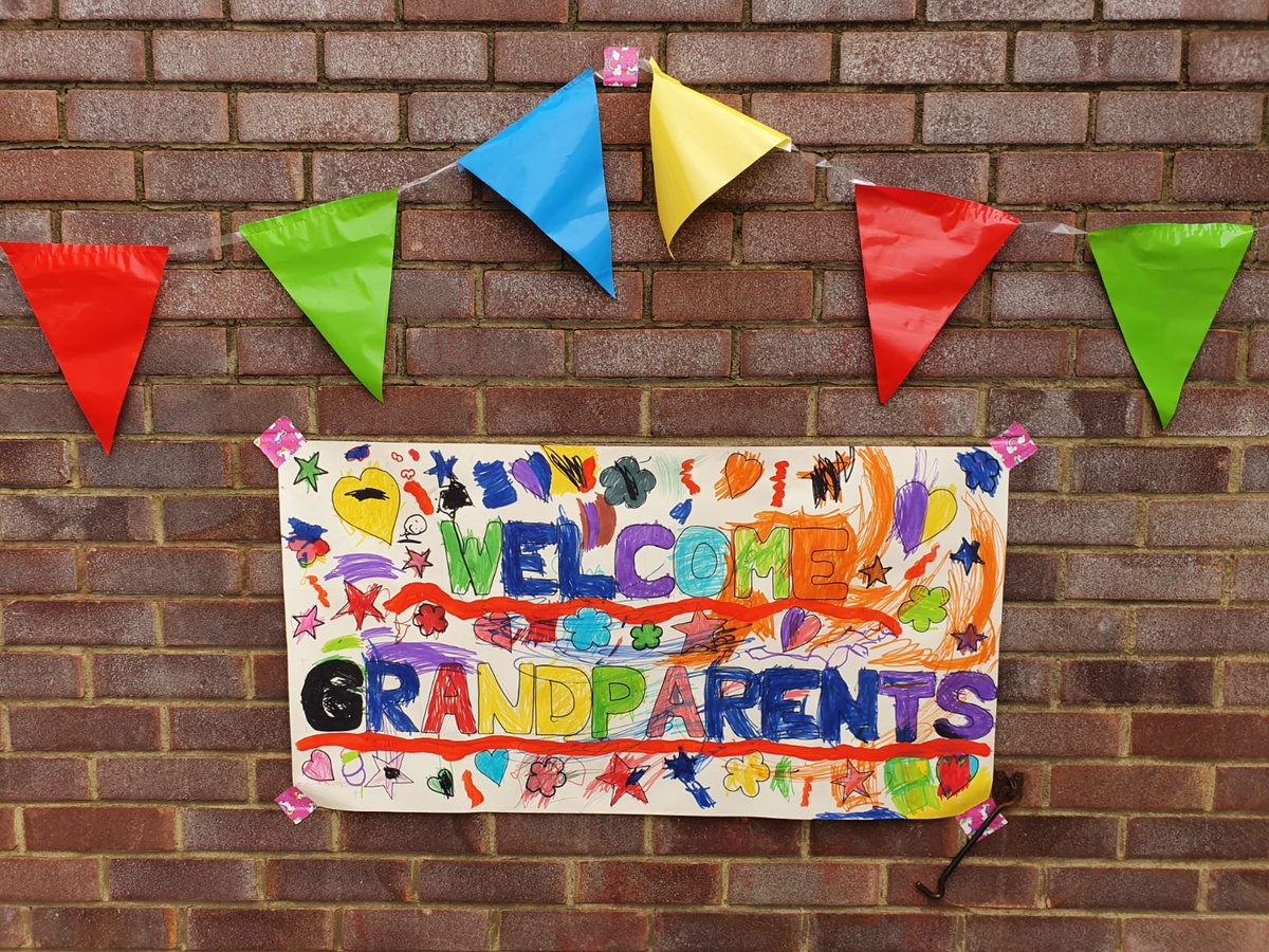Our Grandparents' Tea is in full swing in the nursery! #family
