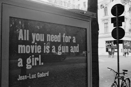Happy birthday Jean Luc Godard.