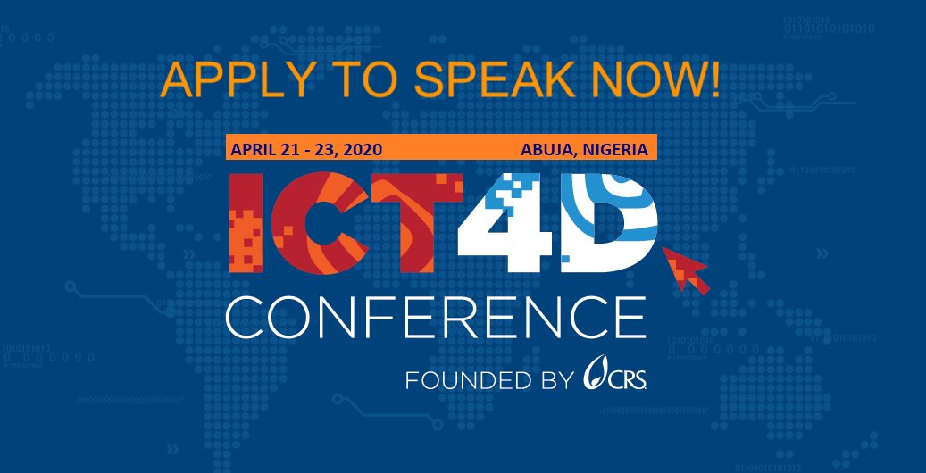 Fancy discussing #CyberSecurity and ethical use of #biometrics & digital ID tech at @ISE_Expo? #ISE19 📡Also check out our Call for Speakers for the 12th @ICT4DConference (April, Nigeria) with focus on Responsible Data & Info Sec.⏰Apply by Dec 14: bit.ly/2Mua0zR