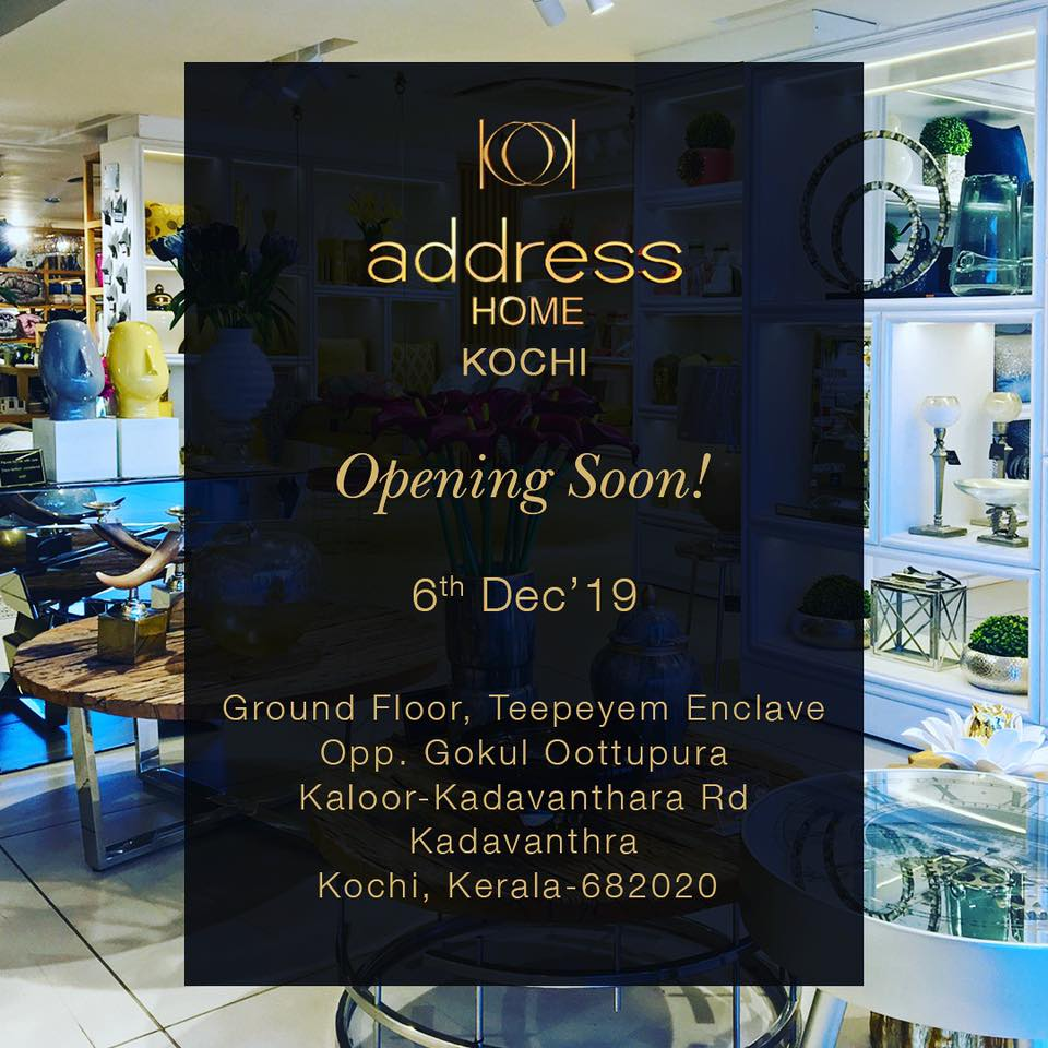 Address Home On Twitter Address Home Updates This December The 6th We Are Bringing The Latest Trend Must Haves The Best In Premium Home Decor To Kochi Addresshome Addresshomedecor Luxuryhomedecor