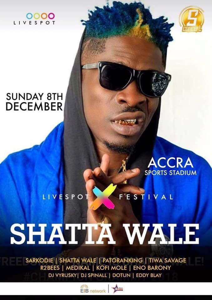 I don't miss SHATTA WALE stadium 🏟 shows and that's my favorite as well 🤩 8th December, all roads lead to ACCRA sport stadium ,Queen of the streets (CARDI) will be meeting the KING OF THE STREET 🔥 so don't be left out oohh 😅 come witness SHOW 🎶