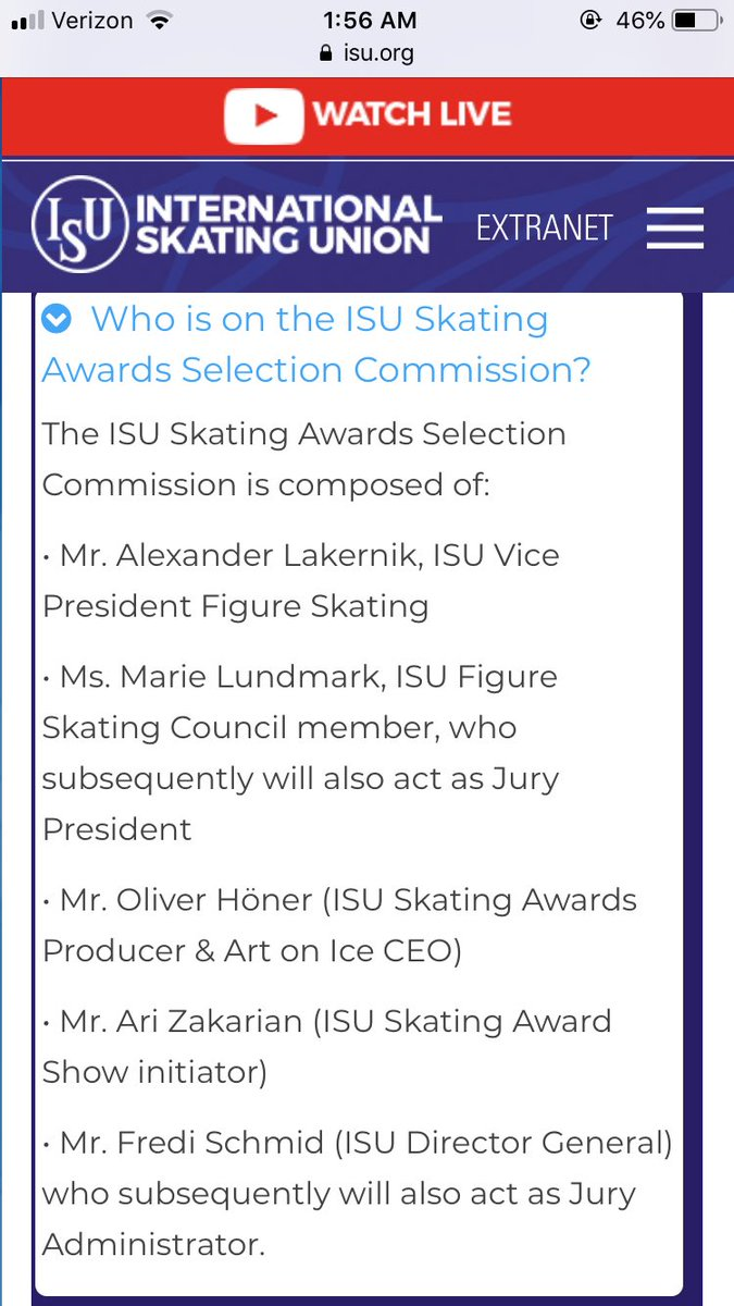 For anyone wondering who it was that thought Shulepov's costume deserved nomination - the ISU was kind enough to list that information in their awards FAQ.  🤡💩🤡
