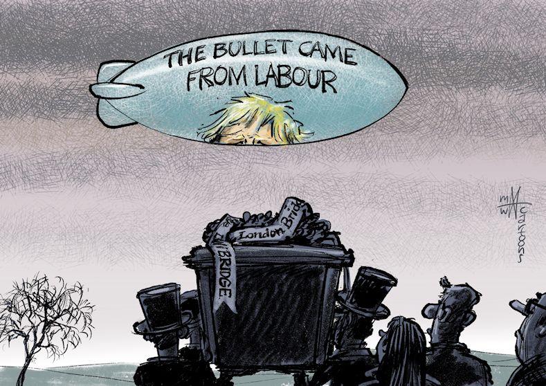 @BorisJohnson abusing #LondonBridgeAttack victims for #UKelection2019  purposes. @cartoonmovement @CartooningPeace  @Joop_nl @UKLabour @Conservatives #Tories #ToriesOutDecember12 #UnitedKingdom #GreatBritain #LondonBridgeAttack2019 #LondonBridgeshooting #LondonTerrorAttack<br>http://pic.twitter.com/MlzAdAr9jP