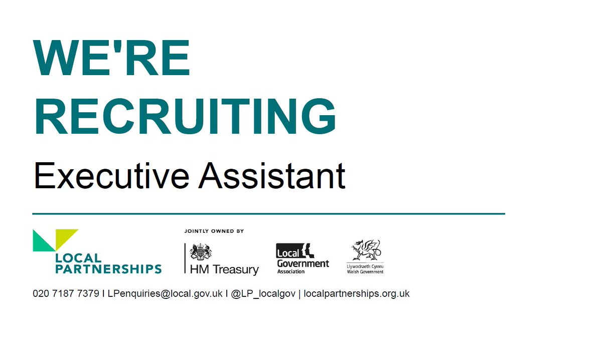 🙌 We're recruiting 🙌  We're looking for a Executive Assistant to join our London Office.  More information and apply: https://t.co/LckKRh2pf6  #LocalGov #Recruitment