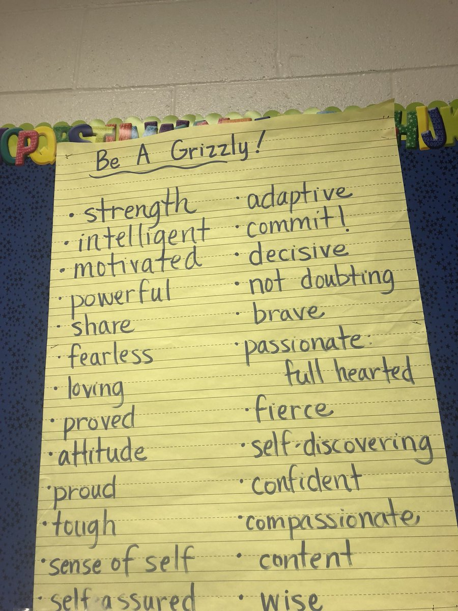#TeamGLISI at New Hope Elementary today learning how to Be a Grizzly. Words to live by for all leaders! @WCSchools