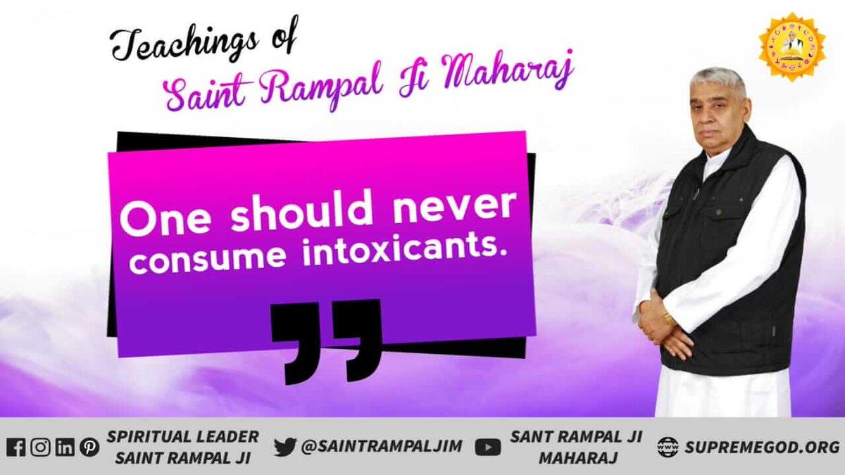#MondayMotivation Teaching of Sant Rampal Ji Maharaj- One Should never Consume intoxicants. <br>http://pic.twitter.com/c2ut6VnWjb