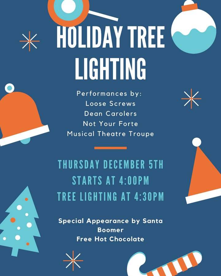Dean College's annual Holiday Tree Lighting - Dec 5