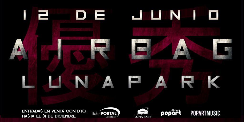 Airbag vuelve al #LunaPark, vuelve a su casa! 12 de junio 2020. Las entradas se pondrán a la venta a partir del 05/12 a las 20 hs. por sistema Ticketportal, y a partir del 06/12 en boletería del estadio, saludos! @AirbagInfo https://buff.ly/3821fad