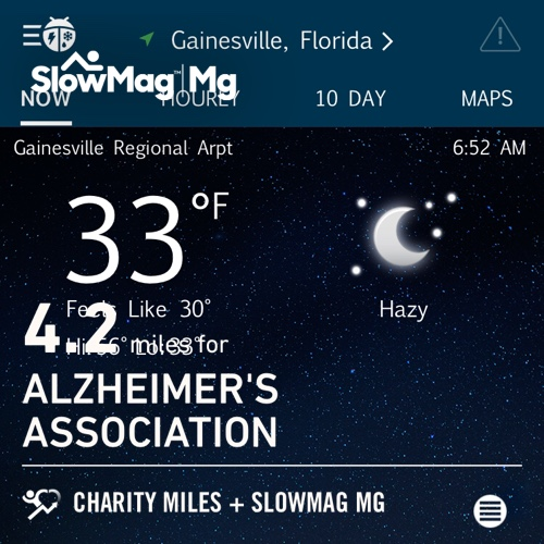 BRRR! Got out for #GivingTuesday! 4.2 @CharityMiles for @alzassociation. Thx #SlowMag for sponsoring me.