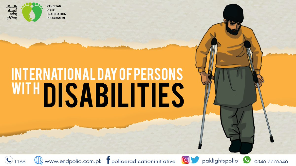 As the world marks #InternationalDisabilityDay, we salute every disabled child, man and woman, for the battles they overcome every day. We vow to continue our efforts to eradicate the crippling polio virus and save every last child of Pakistan from lifelong disability.