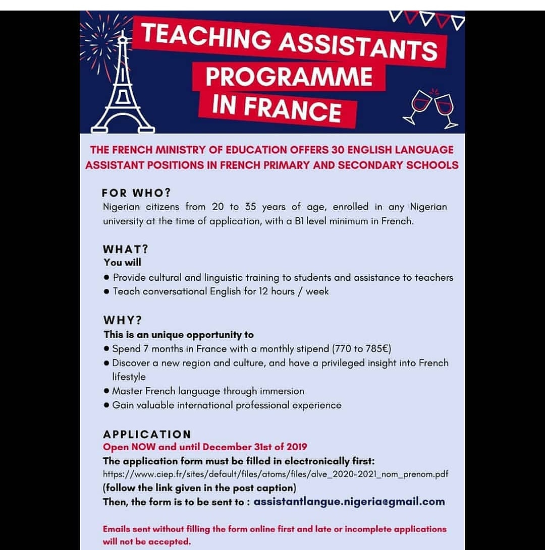 Kelly Steveo On Twitter Become An English Language Teaching Assistant In France Check Information On The Fliers Tuesday France English Https T Co Epuvdbtj8s